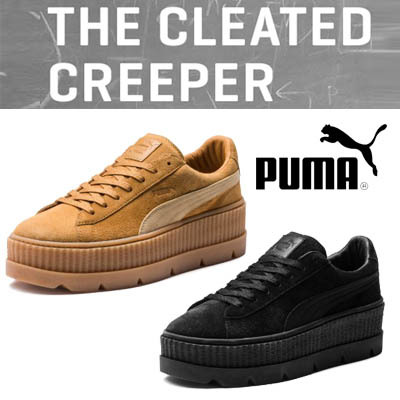brand new 88859 44648 PUMA★JUST NEW ARRIVALS IN SG★FREE GIFT/FENTY PUMA BY RIHANNA/CLEATED  CREEPER SUEDE /Korean Shoes