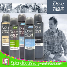 Dove Men Care Deodorant Spray 150~250ml - 5 Types - Clean Comfort / Extra Fresh / Invisible Dry etc