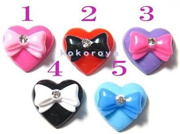 Ribbon ON Heart 1 piece (18 mm × 20 mm) [Nail Nail Art Deco]