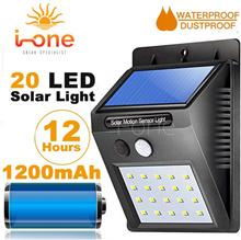 20 LED Solar Powered PIR Motion Sensor Wall Light Outdoor Waterproof Energy Saving Lamp