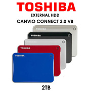 TOSHIBA Toshiba Canvio Connect 3.0 V8 Portable Hard Drive / 2TB / 5 Colours Available