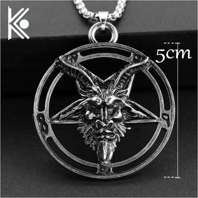 Qoo10 baphomet inverted pentagram goat head pendant necklace baphomet inverted pentagram goat head pendant necklace baphomet laveyan lavey satanism occult metal aloadofball