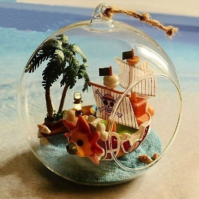 Sailing Boat in a Glass Ball