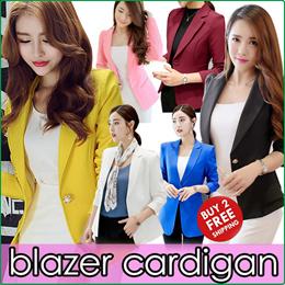 2019 Spring Office Lady Blazer Jacket/Air-Conditioner Cardigan/Women Korea Suit Vogue Jackets