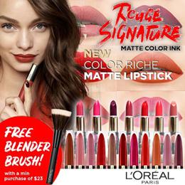 [USE 25% COUPON]*NEW* Loreal Paris Rouge Signature Matte Ink Lipstick/Colour Riche Matte Lipstick *FULL RANGE AVAILA