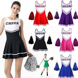 e25d80f4b789 6 Colors Cheerleader Fancy Dress Costumes High School Prom Girl Uniform