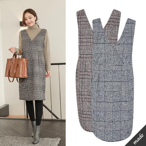 [SOIM] 韓国の高級ワンピース / フリーサイズ / ♥体型カバーになる♥ / 冬ワンピース / マタニティ ワンピース / オフィス妊婦 / すべての女性の着用可能!