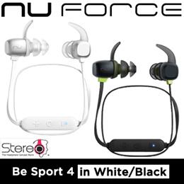 Nuforce Be Sport 4 Wireless Sports Earphone (Black/Silver)