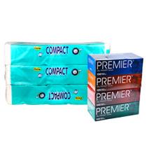 Cutie Compact (3 x 10 rolls) + Premier Tissue (100s x 4Box)