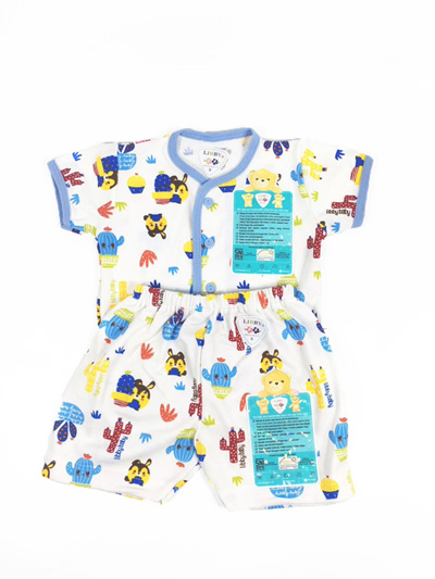 LIBBY Short Sleeve Baby Clothes & Shorts MOTIF S, M, L - 1 Set