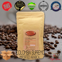 FRY AND ROAST ARABICA COFFEE COLOMBIA SUPREMO 200 GRAM (SEEDS / POWDER)