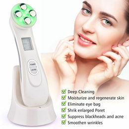 Beauty Face Lift Facial Skin Care EMS LED Anti Aging | Mesotherapy Electroporation Radio Frequency