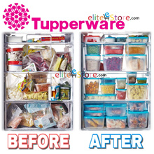 Tupperware FreezerMate F Kitchen Fridge Storage Freezer Mates Defrost Food container Fresh Frozen