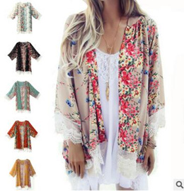 New Floral Kimono Cardigan Summer