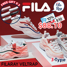 [FILA][Free Gift Velcro Strap] ♥Use Cart Coupon $10♥RAY Couple Sneakers / FX VELTRAP Sneakers