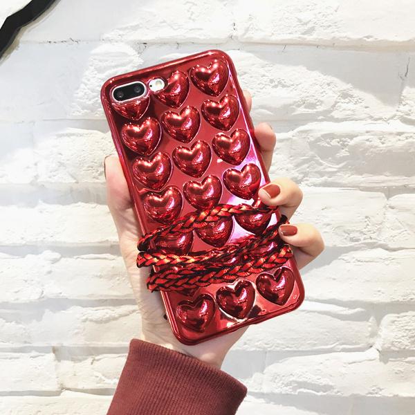 ハートエンボスメタルケース/ iPhone X ケース カバー iPhone8 Plus ケース カバー iPhone8 ケース カバー iPhone7 Plus iPhone7 iPhoneケース