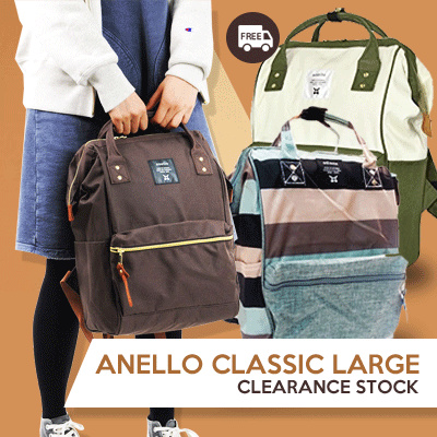 ANELLO LARGE CLASSIC TERMURAH!FREE SHIPPING!UNISEX CASUAL BACKPACK_BEST SELLER in JAPAN*BEST QUALITY Deals for only Rp180.900 instead of Rp180.900