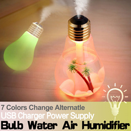 ★Water Air Humidifier★7 Colors Change★USB Power Supply★ Aromatherapy Essential Oil Aroma Diffuser