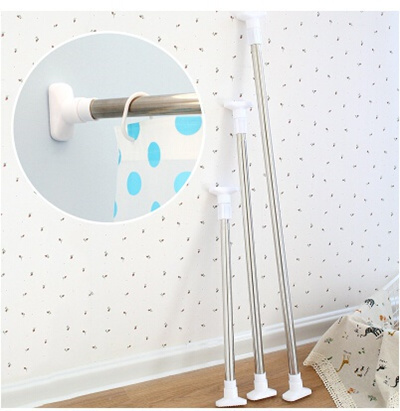 Bathroom Telescopic Shower Curtain Rod Free Punch Simple C