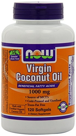 NOW Foods Virgin Coconut Oil 1000mg, 240 Softgels (Pack of 2)