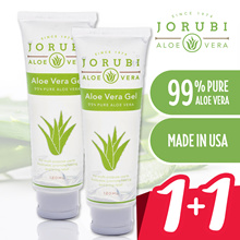 Twin Set / JORUBI Aloe Vera Gel 120ml / 99% Pure Aloe / Moisturizes skin / Heals burns / Made in USA