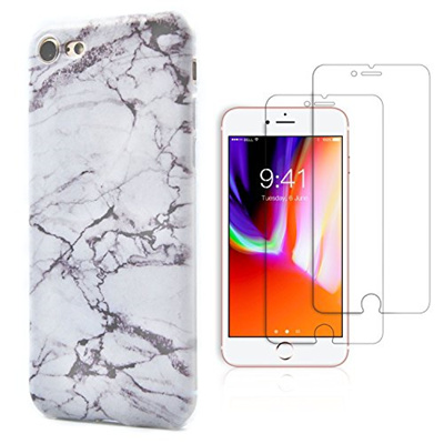 7b61f8f89f7 iPhone 8 Case, iPhone 7 Case, Marble Soft TPU Phone Cases comes with (