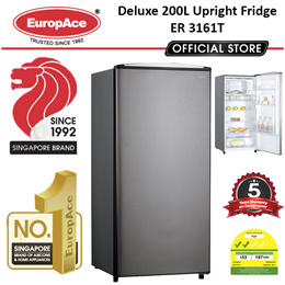 *Stay Home Extra Storage* EuropAce Deluxe 152L 1 Door Fridge with freezer (ER 3161T)