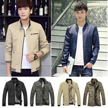 Men jacket autumn winter jacket Leather jacket down baseball hoodie fleece jacket