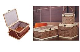 Imported Designer Picnic rattan basket Gift basket Fruit basket kitchen basket and storage basket.