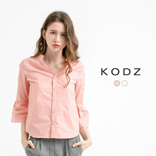 KODZ - 3/4 Sleeve Collarless Shirt-171839-Winter