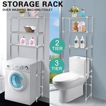 +Free Gift  ▶SG INSTOCK◀  ★Storage Rack Over Toilet/Bathroom/Laundry/Washing Machine Shelf Unit Org