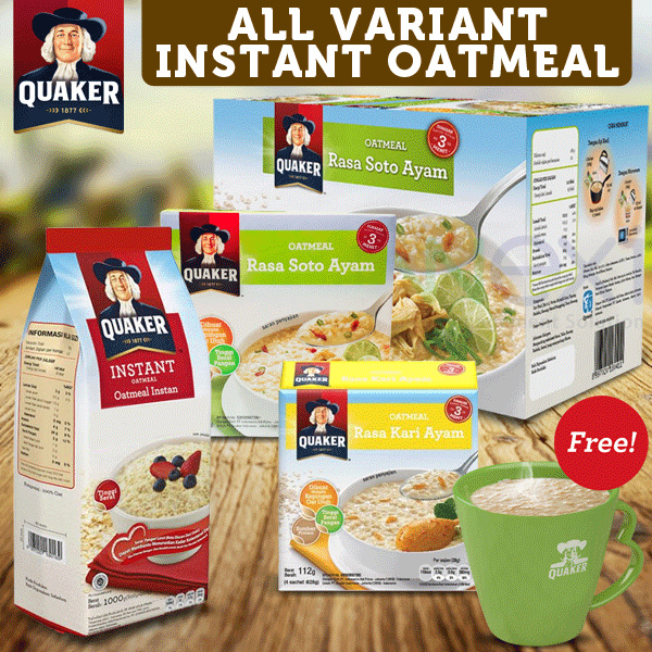 [Buy 1 Free Mug] Quaker 3 In 1 All Varian Free Mug Deals for only Rp50.000 instead of Rp50.000