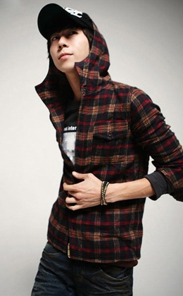 7c4a32ea69 Mens Fashion Hooded Plaid Shirt Sportsman Joker Red Checkered Hooded  Long-sleeved men shirts male