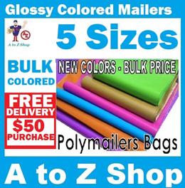 Colored Plastic Mailing Bags- BULK WHOLESALE PACK /Polymailer / Packaging / Poly Mailing Mailer Post