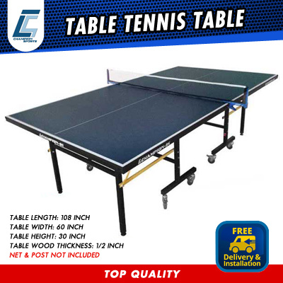 CHAMPION TABLE TENNIS TABLE WITH FREE INSTALLATION AND DELIVERY