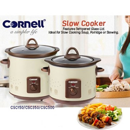 Cornell Electric Slow Cooker / Auto Cooking Function / Ceramic Pot