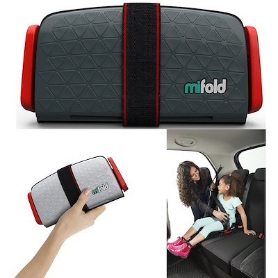 dark Grey mifold Grab-and-Go Car Booster Seat