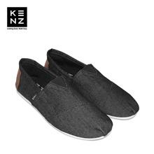 Sepatu Pria Casual Slip On | Kenz Sloppy - Black Denim
