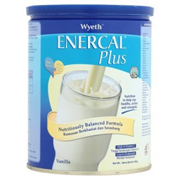 Wyeth Enercal Plus Vanilla Milk Powder 400g