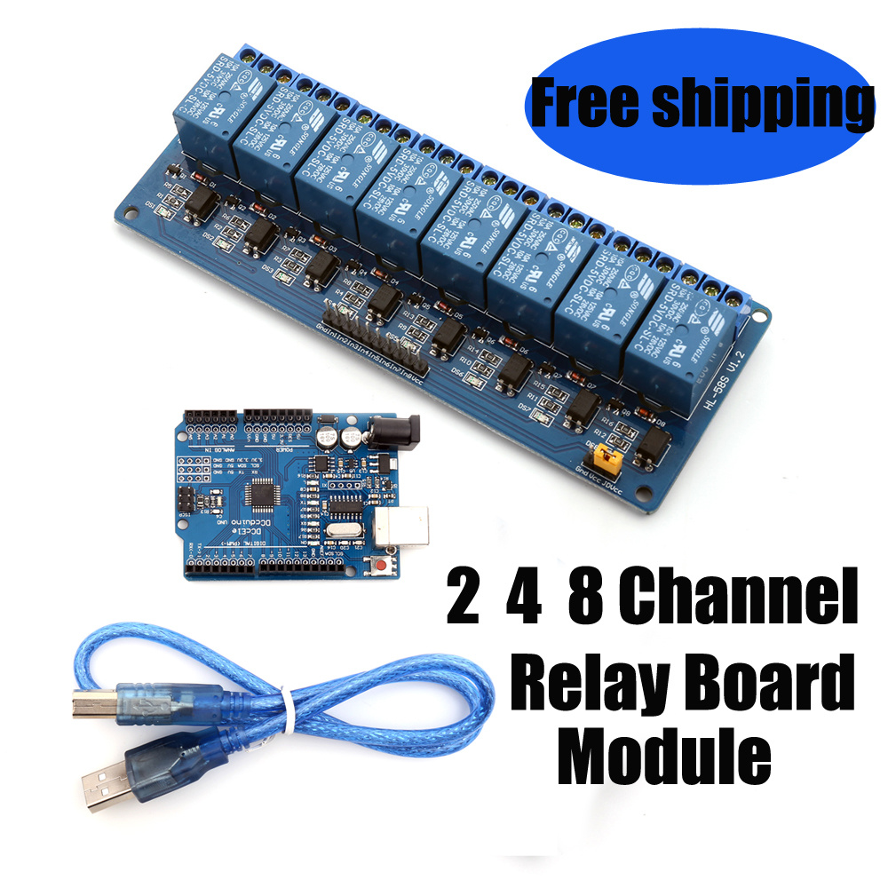 Qoo10 2 4 8 Channel Relay Board Module Arduino Raspberry Pi Arm Fit To Viewer Prev Next