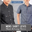 New!! Mens Shirt Levis Short Sleeve And Long Sleeve / Kemeja pria casual atasan pria kaos