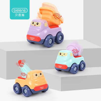Qoo10 Sale Beiens 3 Colors 1 Set Kids Cartoon Inertia Toy Car Dump