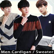 2018 Men cardigan sweater ★ Knitted wool sweater / Bottoming Knitwear / Coat / Jacket / Korea style