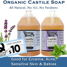 Vermont Soap Organic Castile Soap - 1 gallon 100% Natural