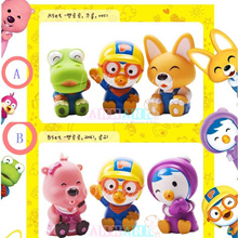 6pcs Pororo Friends Set Birthday Cake Toppers*Squirt Water Bath Toy*Beach Sand Toy