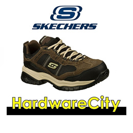 Skechers 77013 Work Relaxed Fit: Soft Stride - Grinnell Comp Shoes - BRBK