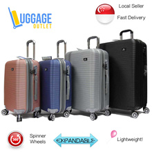 ★Lightest range!★Hard Shell Spinner Wheels ABS Expandable Luggage Trolley Case