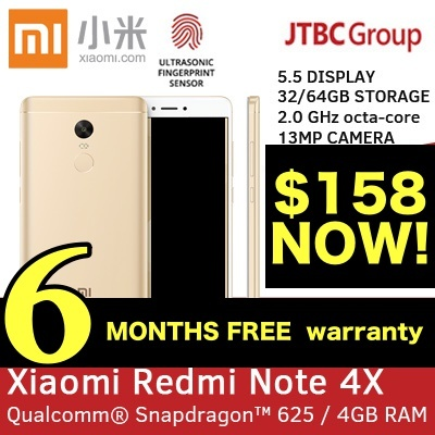 [6 MTHS WARRANTY!] REDMI NOTE 4X 16GB / 32GB / 64GB SNAPDRAGON! GLOBAL ROM / DUAL SIM XIAOMI Deals for only S$599 instead of S$0