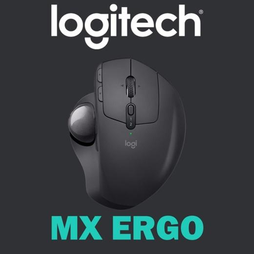 Logitech MX Ergo Advanced Wireless Trackball for Windows PC and Mac