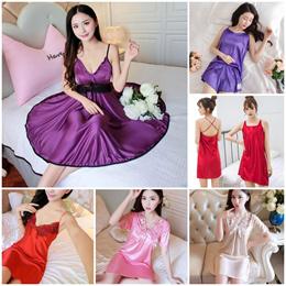 Women Pyjamas Sleepwear Silk Pajamas set Nightgown Night costume Lingerie Sleeping outfits